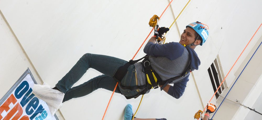 Joshua Singh Real Estate goes Over the Edge to support Habitat for Humanity Riverside